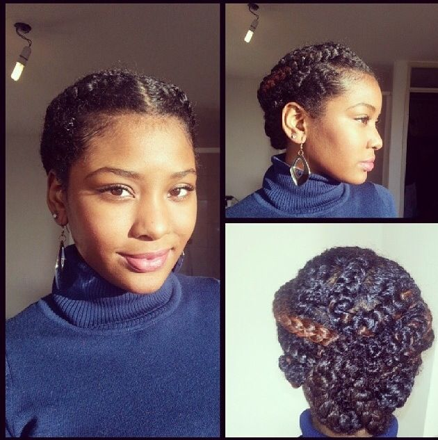 Natural Hair - Protective Styling - Braids Updo