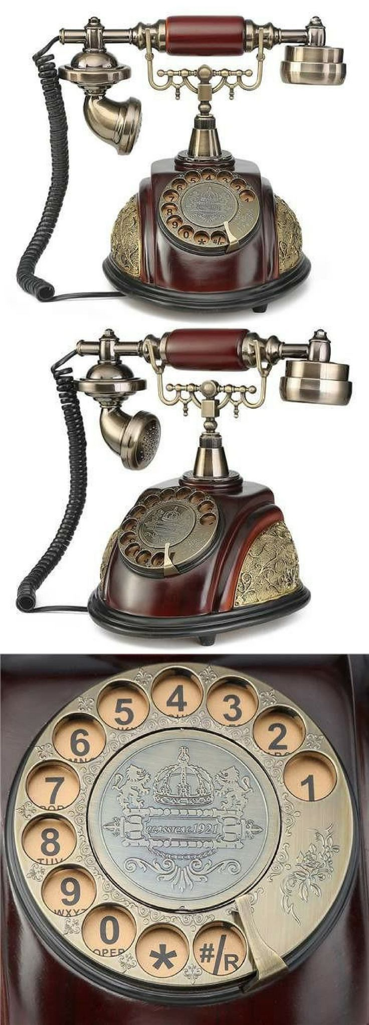 Very attractive telephone. Adds a touch of elegance to any room. Retro Vintage Antique style rotary dial desk telephone phone home living room decor. NNT #phone #ad #retro #retrofashion #antique #vintagefashion #livingroomdecor #elegant