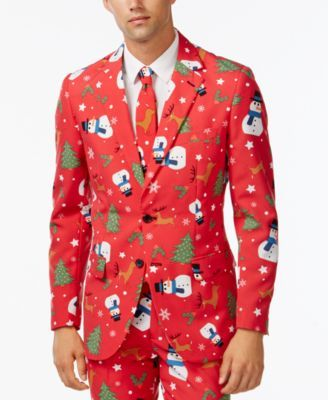 OppoSuits Slim-Fit Snowman Suit and Tie