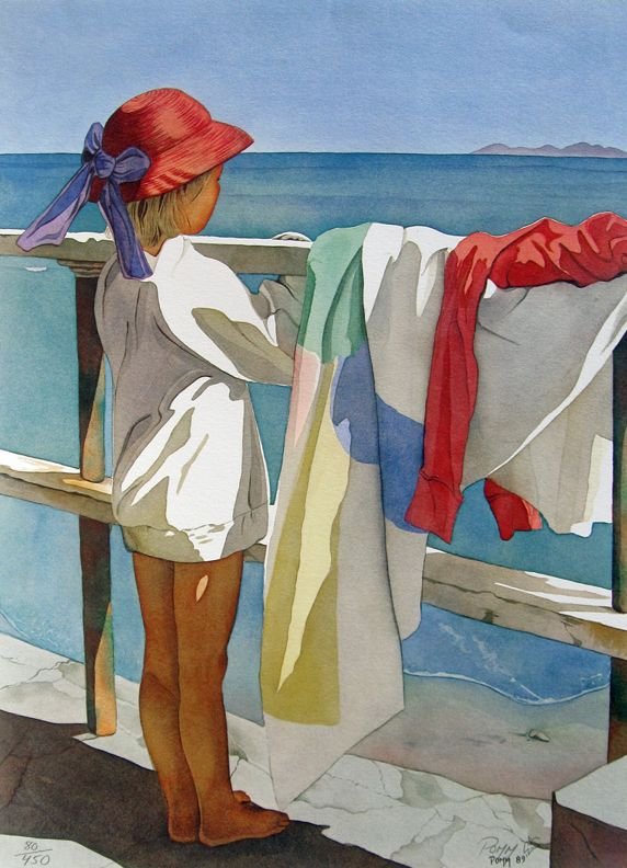 """Broader Horizons"" ~ Pomm Olsen, watercolor"