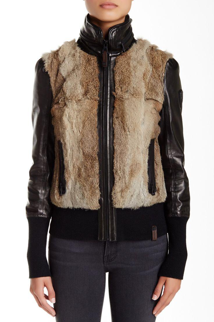 Rudsak - Genuine Rabbit Fur & Leather Bomber at Nordstrom Rack. Free Shipping on orders over $100.