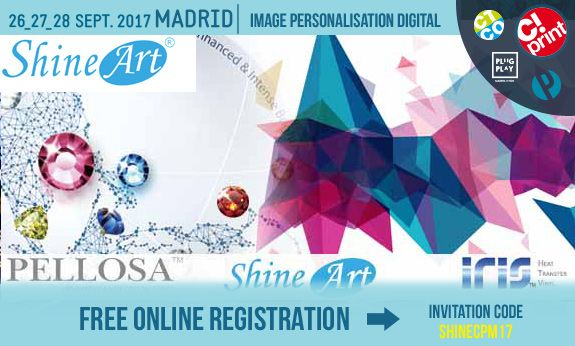 ※ UPCOMIMG SHOW INFO  C! Print in Madrid, Spain  2017.09.26~ 2017.09.28  Click below link to register as Vistor for FREE NOW! http://salon-cprint.es/emailing-perso-2017/shineart.html