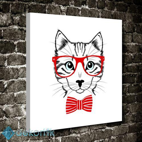 Gözlüklü Kedi Tablo #çocuk_odası_tabloları #genç_odası_tabloları