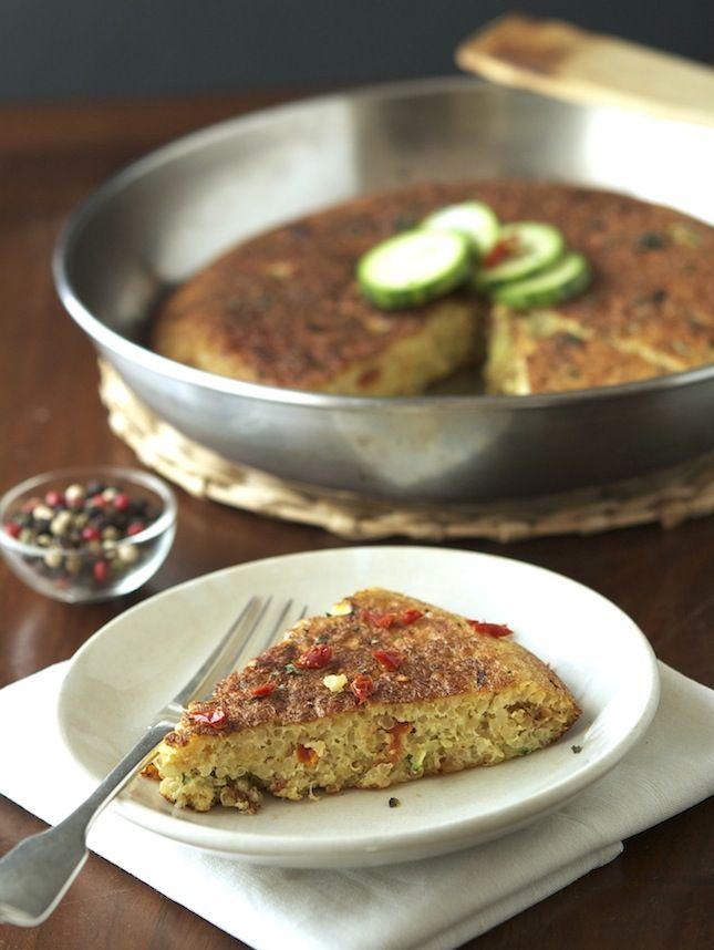 ... blog with tasty recipes: Quinoa, Zucchini & Sun-Dried Tomato Frittata