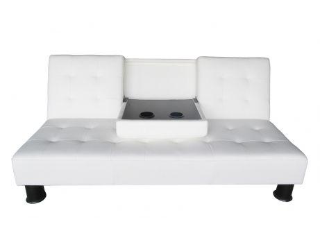 Moderno y funcional sofá cama con compartimento secreto.