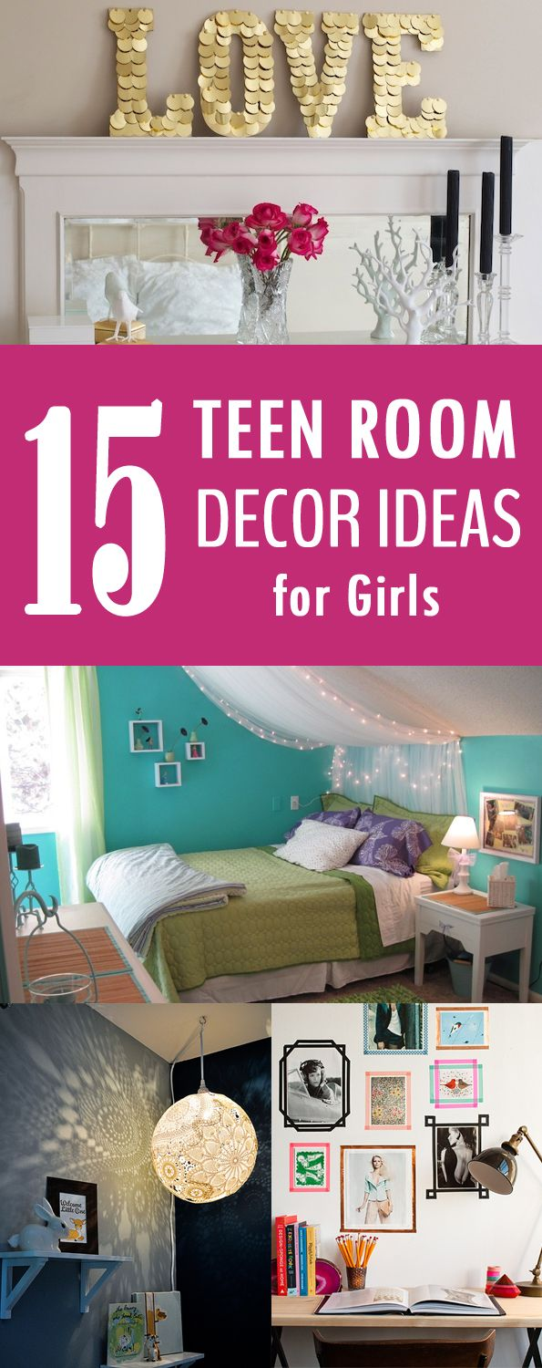 17 best ideas about teen room decor on pinterest teen bedroom teen room makeover and teen - Room decoration ideas for teenagers ...