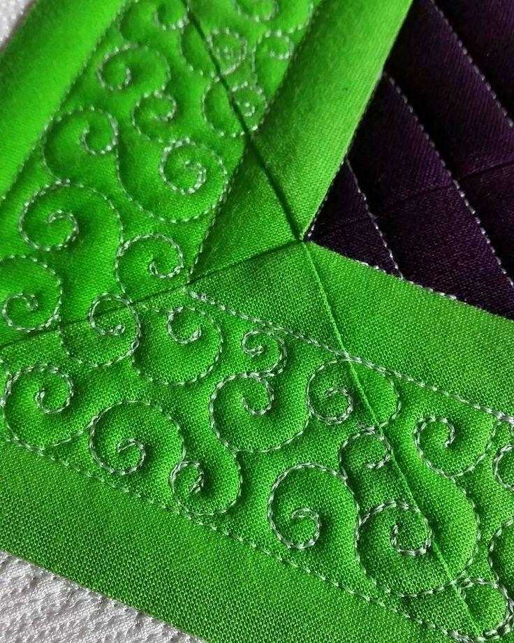 """Pretty stitches. #judimadsen #longarmquilting #freemotionquilting…"