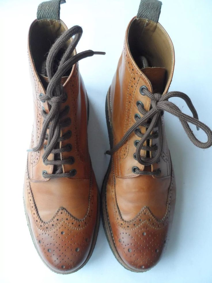 GRENSON NORTHAMPTON STUNNING BROWN LEATHER BROGUE BOOTS SIZE 8 G UK/42 EU/8 US in Clothing, Shoes & Accessories, Men's Shoes, Boots | eBay
