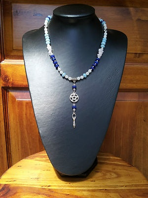 Goddess, Rosary Style Necklace - Handcrafted