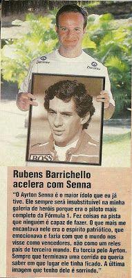 Ayrton Senna: Reportagem: Rubens Barrichello Acelera Com Senna