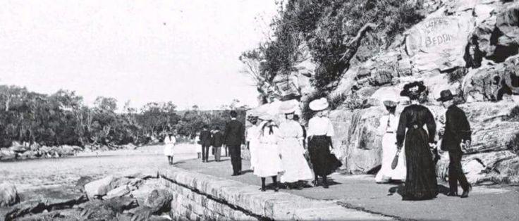 The Promenade nearly Shelley Beach, Northern Beaches, Sydney, 1915.