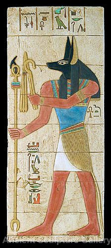 A painting of the God of the underworld Anubis by the Ancient Egyptians. They painted how they percieved their Gods to look. (Laterza.M, 2011)
