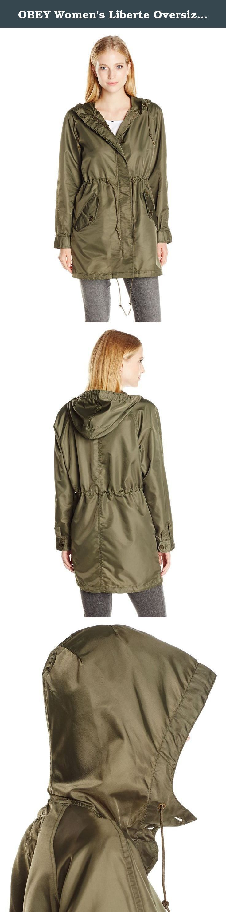 OBEY Women's Liberte Oversized Parka Jacket, Military Olive, X ...