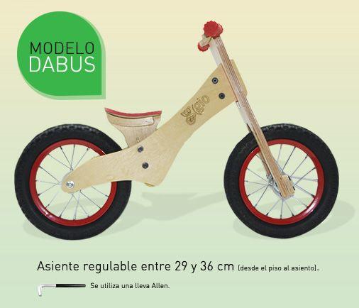 Bicicleta de inicio modelo DABUS de Gio Juguetes http://www.guiapurpura.com.ar/juguetes-gio