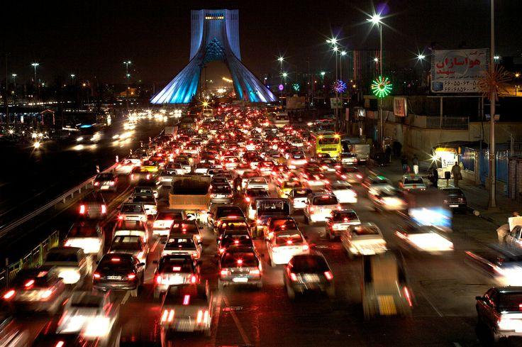 Iran | Azadi Tower, Tehran. credit: Thomas Jaehnel. view on fb https://www.facebook.com/SinbadsIranPocketGuide  #MyIran #Iran #TravelToIran #travel #tehran