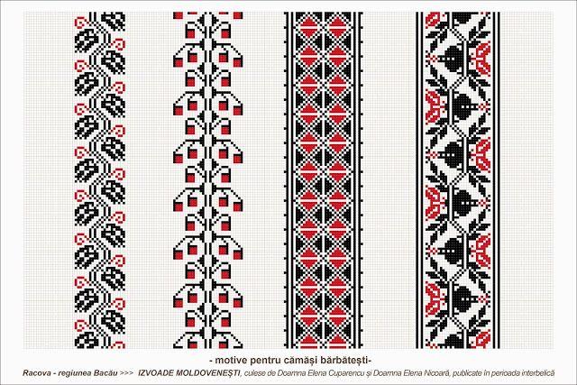 Semne Cusute: romanian traditional motifs - MOLDOVA - Bacau, Rac...