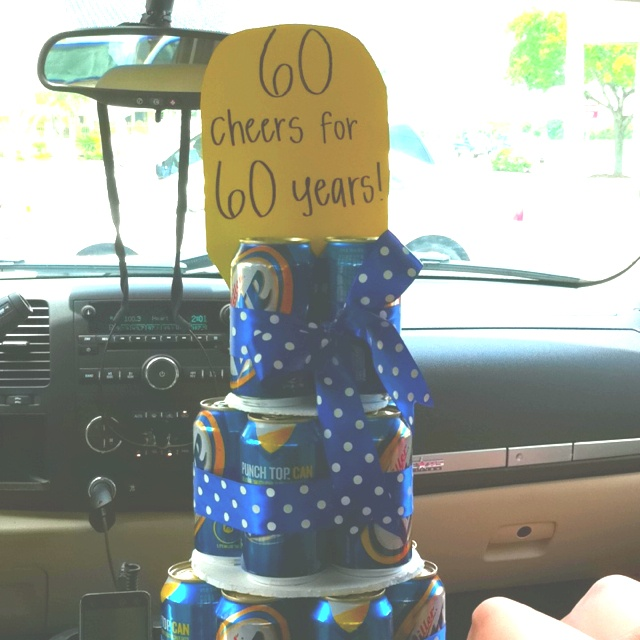 """Beer cake! """"30 cheers for 30 years!"""""""