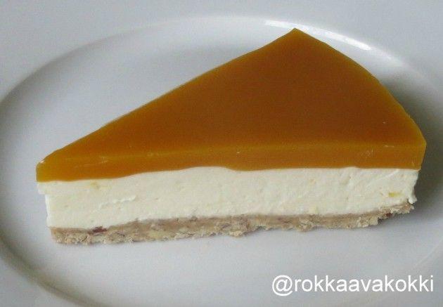 @RokkaavaKokki: Gluteeniton mango-juustokakku