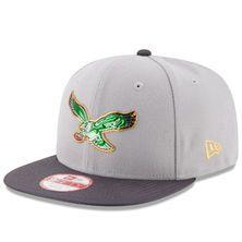 Men's New Era Gray/Graphite Philadelphia Eagles Gold Collection Classic Original Fit 9FIFTY Snapback Adjustable Hat