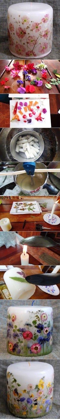 DIY Decorative Candle diy crafts craft ideas easy crafts diy ideas diy idea diy…