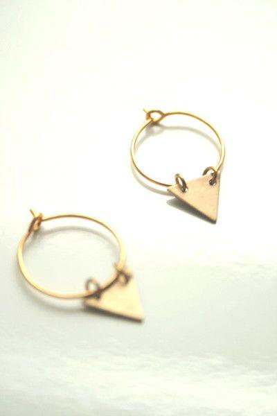 Mini créoles Triangle de The Blossom Bohemian  sur DaWanda.com