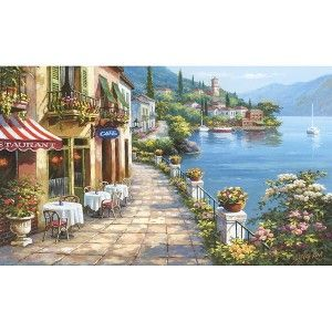 """Cafe Wall Mural - 8'3""""x13'8"""""""