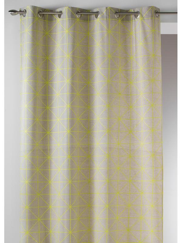 rideau pr t poser origami jaune scandinave art of life. Black Bedroom Furniture Sets. Home Design Ideas