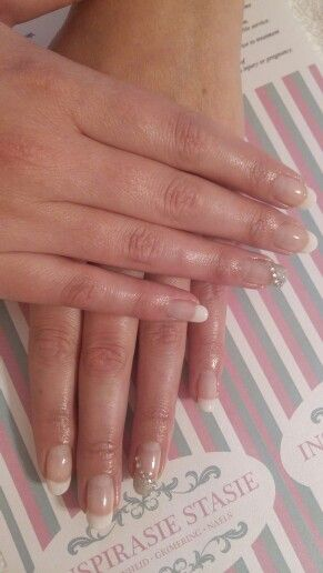 A classic French paint with a statement nail. #Frenchnails #FrenchPaint #FrenchMani #mani #PolishPro #nailswag #silver #glitter