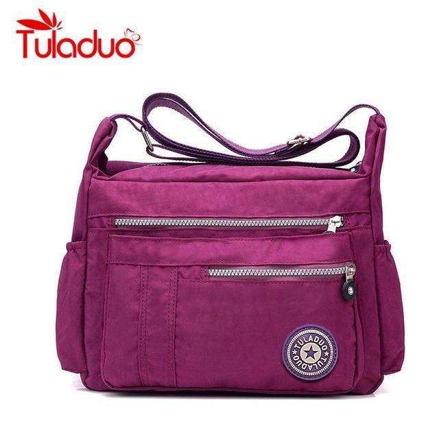 Hot Sale $10.86, Buy Women's Messenger Bags Ladies Nylon Handbag Travel Casual Original Bag Shoulder Female High Quality Large Capacity Crossbody Bag