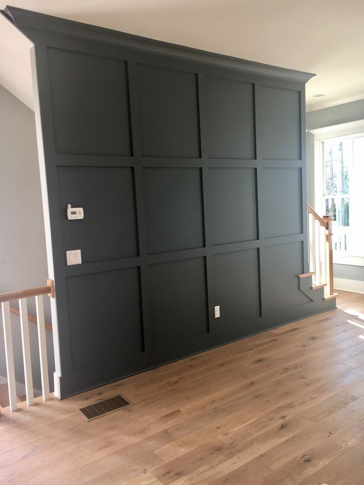 Tv Wall Painted Peppercorn Gray Blue Instead Of Black Home Renovation Home Remodeling Home