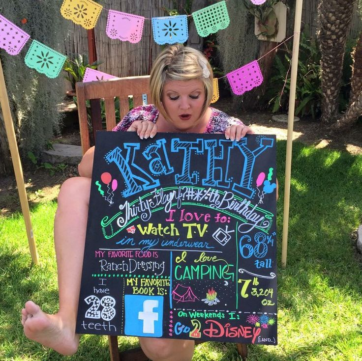 Props to @kathystafford for this amazing adult birthday photoshoot sign!  I couldn't stop laughing!!!!  (Inspired by the child ones people do)  I am so doing this next May for myself!!  Chalkboard sign, cricut banner