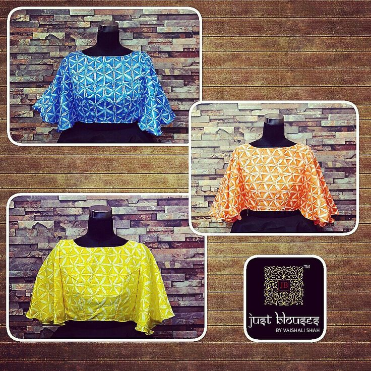 #NEWARRIVALS #BUTTERFLYCROPS #BRIGHTCOLOURS #JUSTBLOUSES #JUSTBLOUSESBYVAISHALISHAH