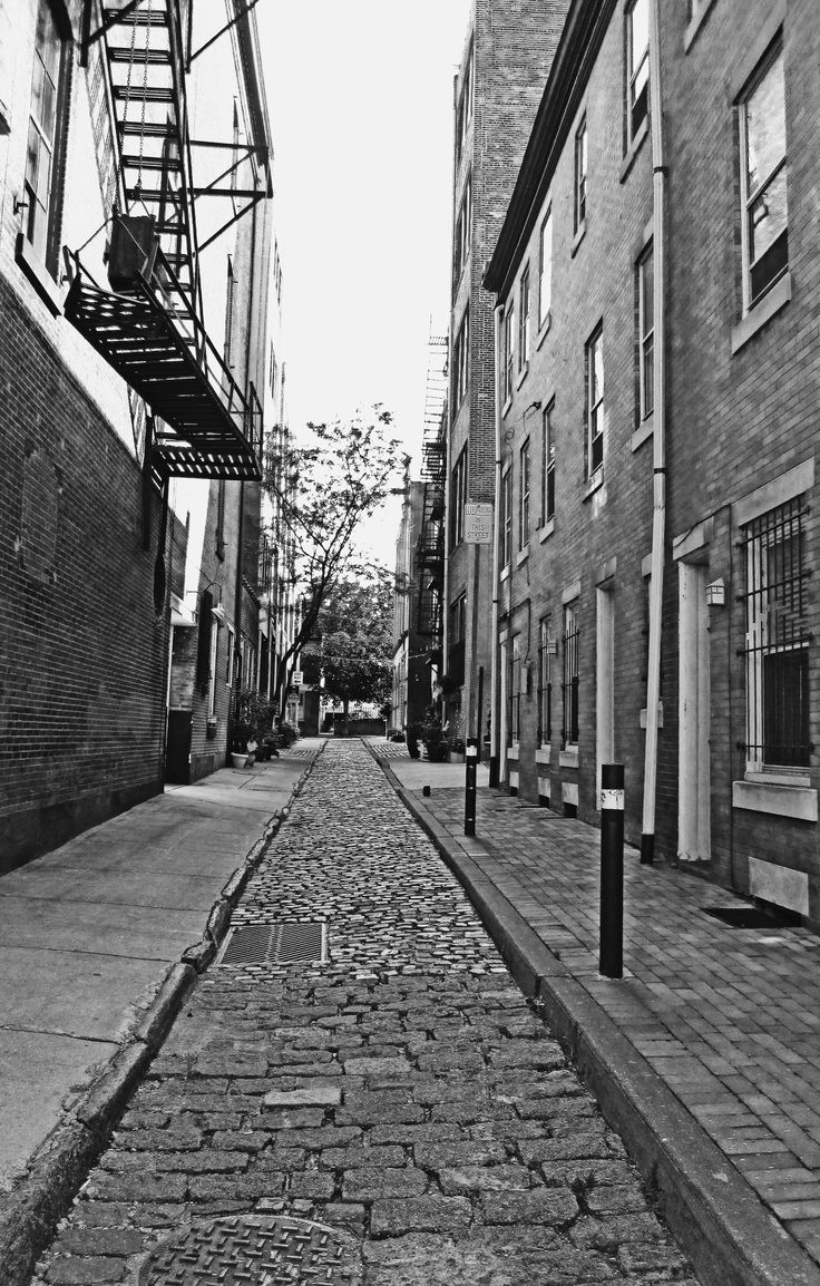 Olde City Philadelphia Cobblestone Street Love's Photo