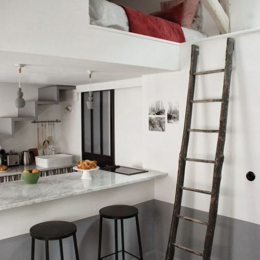 34 best petits espaces images on pinterest apartment living small space living and small - Comment amenager un studio ...