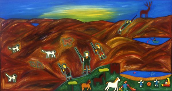 A Day in the Highlands, 2002. Oil on linen, 116 x 213 cm. #painting #oilpainting #finearts #contemporaryart #cristinarodriguez