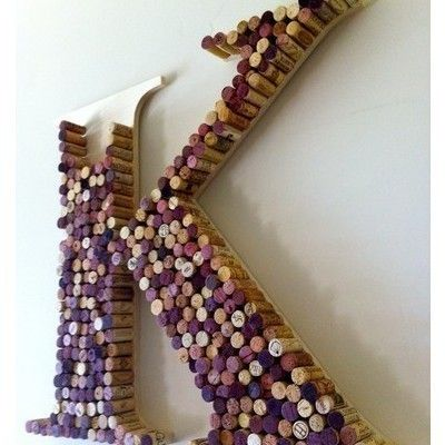 like this for all those special occasion saved corks.: Wine Corks Art, Cute Ideas, Wine Corks Letters, Cool Ideas, Wine Bottle, Corks Ideas, Drinks, Monograms, Corks Projects