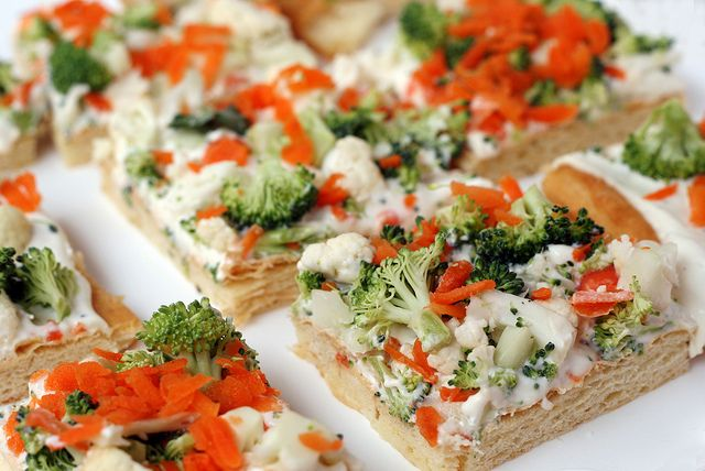 Cold Veggie Pizza - This was a popular recipe when I was growing up in the 80's, I've always liked it!