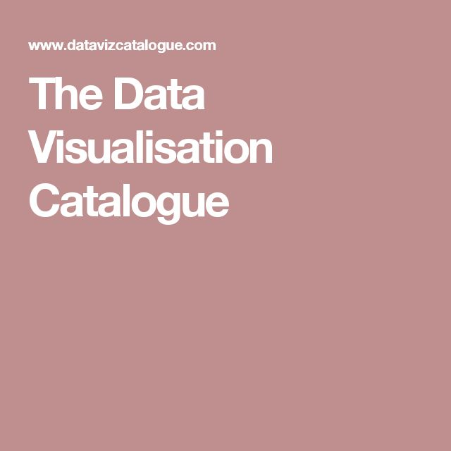 The Data Visualisation Catalogue