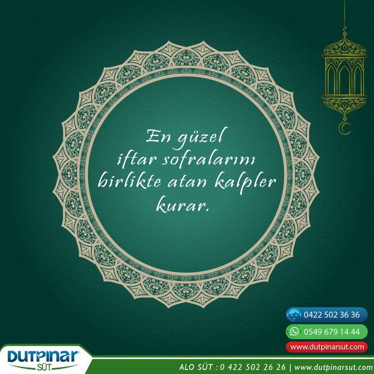 Ramazan'da da en huzurlu, en lezzetli sofralar sizinle olsun. Hayırlı Ramazanlar ! #malatya #dutpinarsut #çiğsüt #ramazan