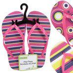Kids' Pink Printed Rubber Flip-Flops