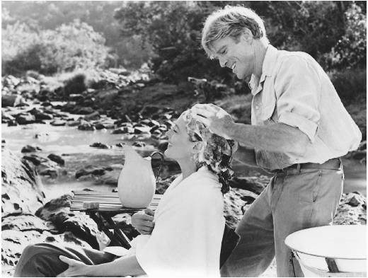 Out of Africa. Merryl Streep and Robert Redford. This was one sensual scene!