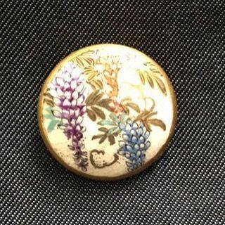 薩摩ボタン  最近フランスではあまり見かけなくなった薩摩焼のボタン 巡り会えて超幸せ  #bouton #satuma #boutonancien #アンティーク #アンティークボタン #里帰りボタン #薩摩ボタン #古いボタン #gallery壹 #galleryichi