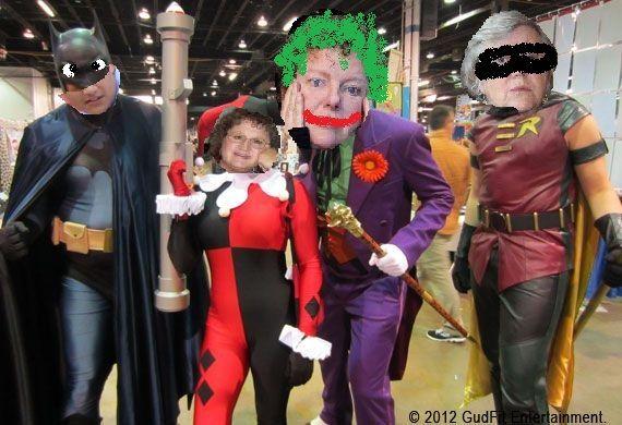 BatMatt and Cherry Robin - Boy Wonder vs Bambi Quinn and The Noortjoker  At Comicon