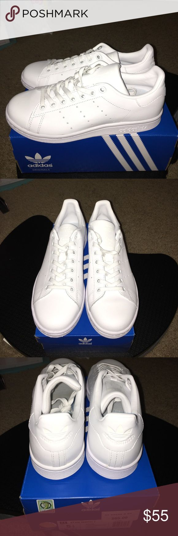 All white Adidas Stan Smiths Brand new all white stan smiths in men sizes 5.5, fits women's size 6. In brand new condition and never worn, comes with box. adidas Shoes Sneakers