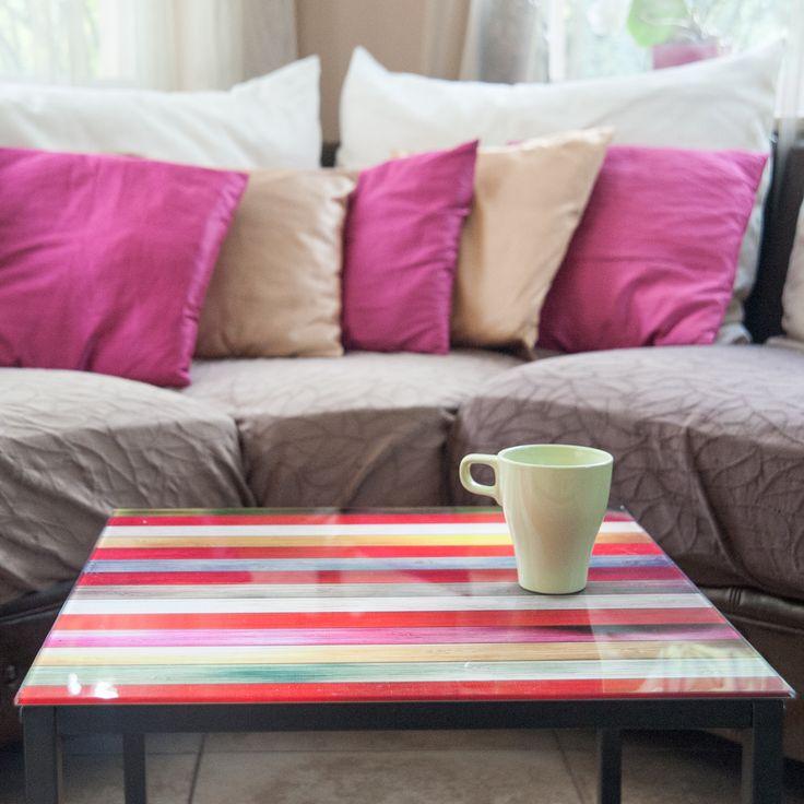 Rainbow üvegasztal #table #üvegasztal #otthon #dekor