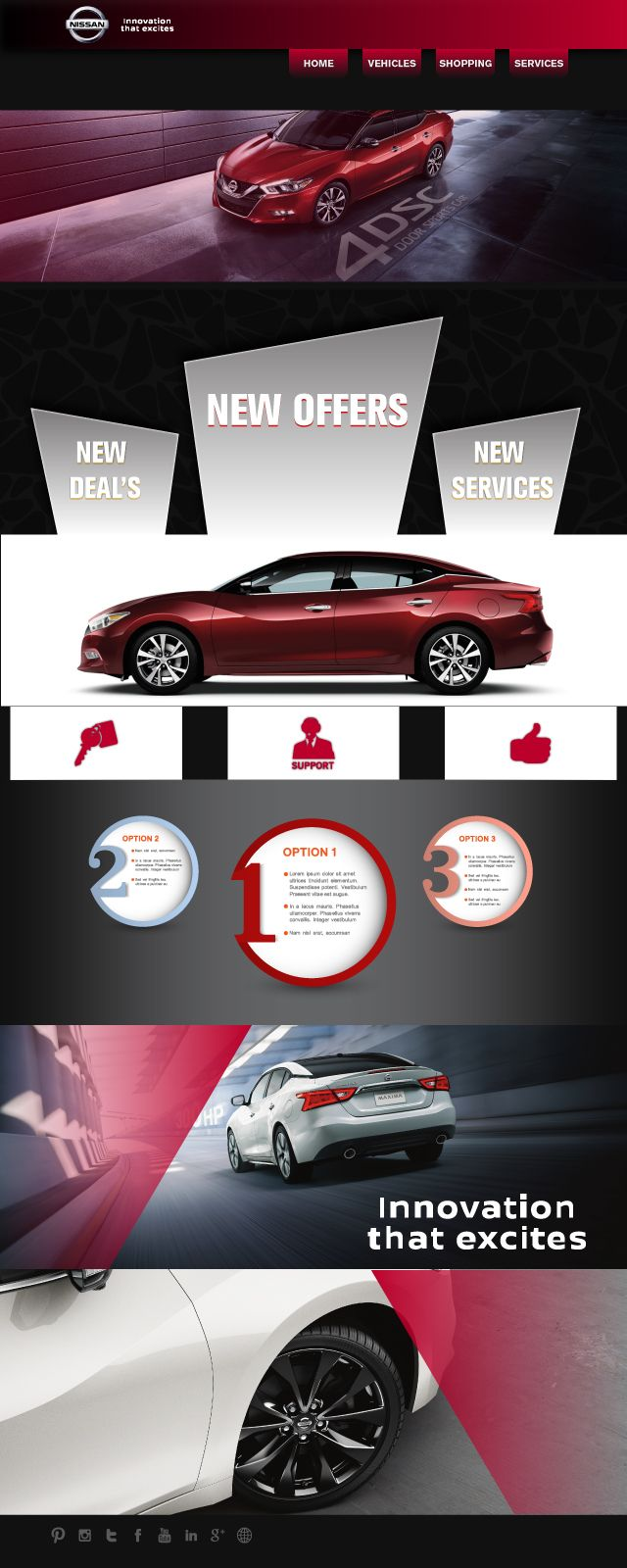 this is not published website template for nissan motors company