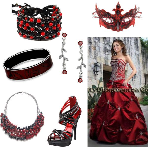 """""""Red Masquerade Ball Gown"""" by demon-trickster on Polyvore"""