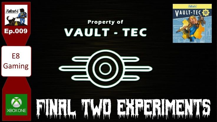 Fallout 4 Modded Lets Play: Xbox one: Ep.009: Vault Tec Workshop experiments finally done