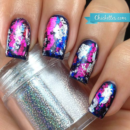 Chickettes.com Graffiti Nails with Transfer Foils