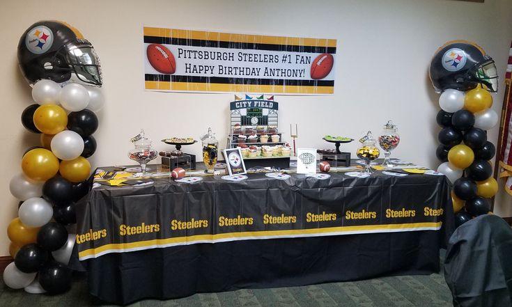 Pittsburgh Steelers Dessert Table And Decor Svjpartyplanner Santajones87 Happy Birthday Anthony 50th Party Dad Birthday